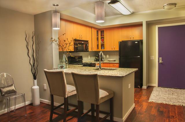 Glamorous Life Bachelorette Pad traditional-kitchen