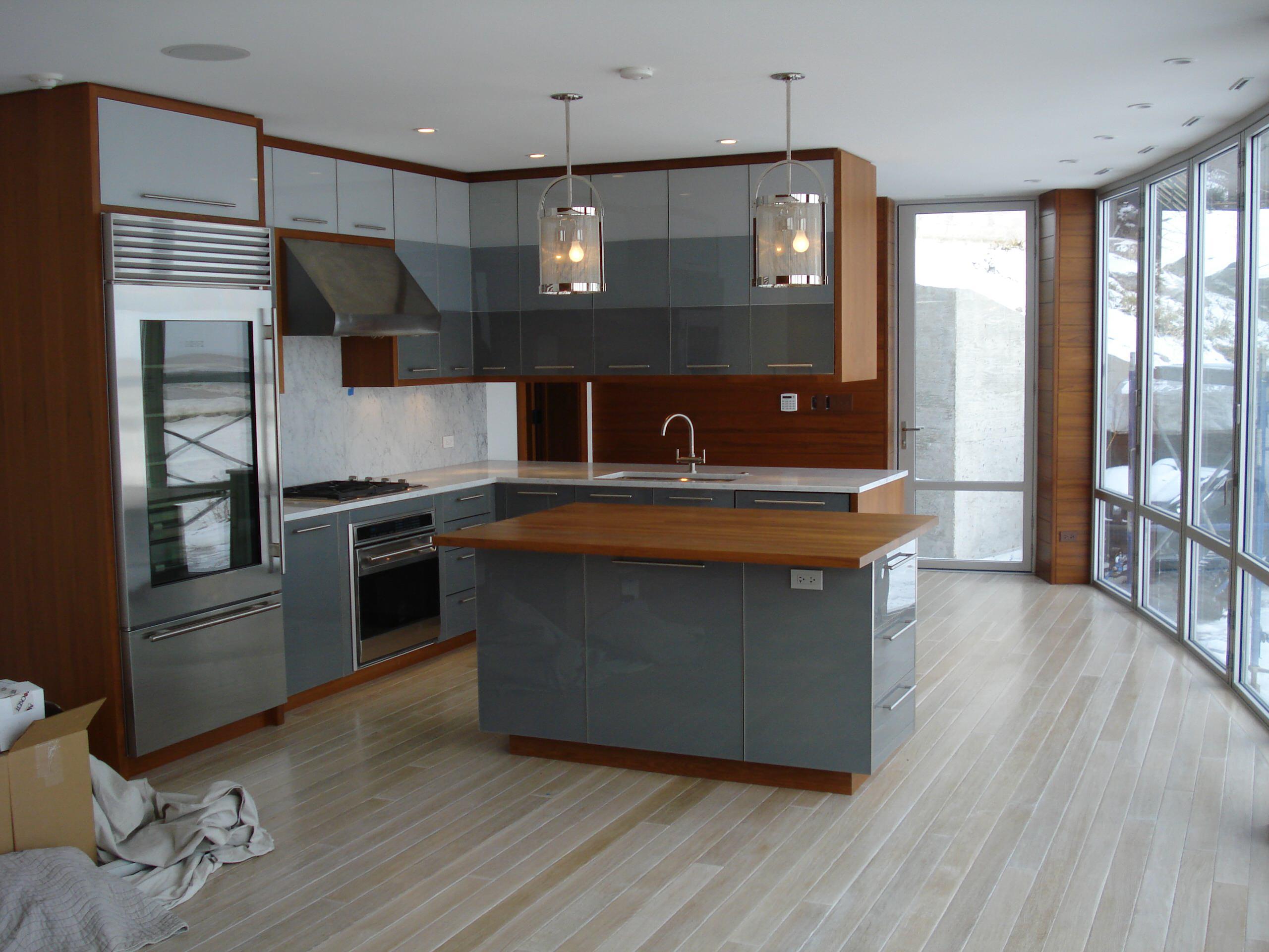 Glass & Teak Cabinets