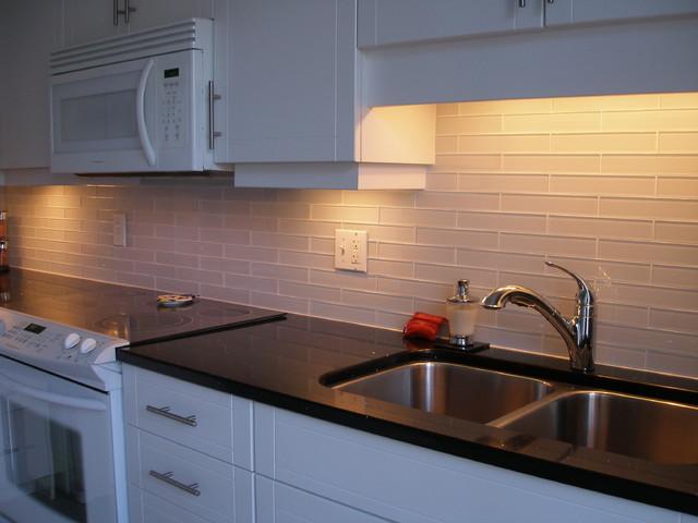 glass backsplash modern kitchen toronto by coleman
