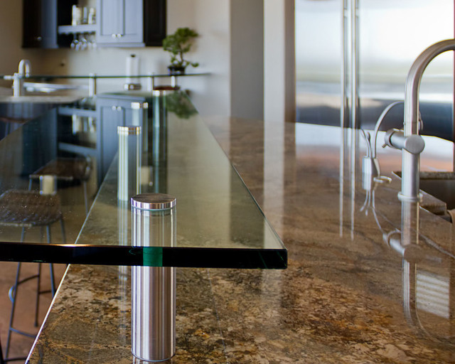 Glass Countertop Options : Glass Countertop Options - Contemporary - Kitchen - phoenix - by ...