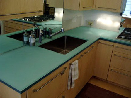 Glass Countertops - Contemporary - Kitchen - boston - by EcoModern ...