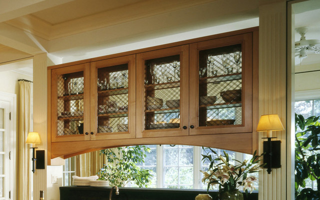 Glass Front Kitchen Cabinets traditional-kitchen