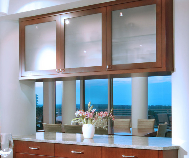 Glass Front Kitchen Cabinets - Traditional - Kitchen - Other - by Benvenuti and Stein