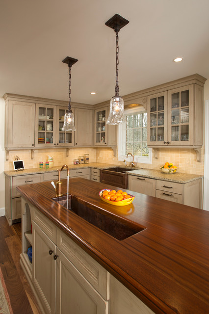 Glass front kitchen cabinets Traditional Kitchen dc