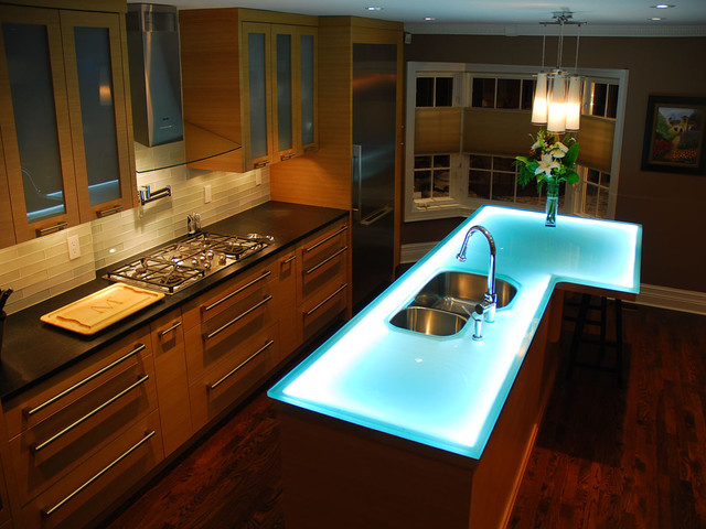 Fabulous http houzz photos Glass island contemporary kitchen islands and kitchen carts toronto