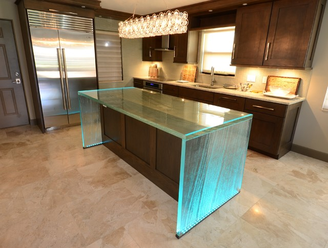 Glass Island Contemporary Kitchen