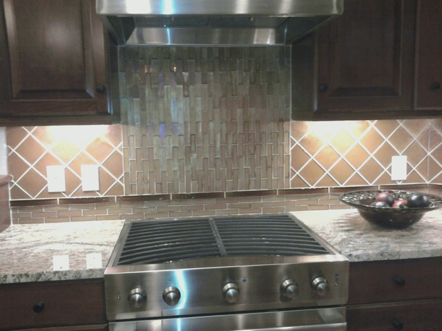 Glass Kitchen Backsplash modern-kitchen
