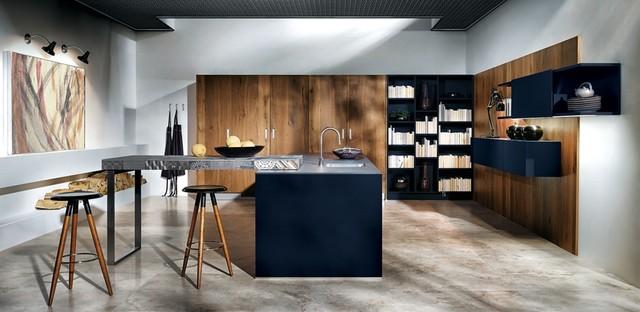 Indigo Blue  Modern  Kitchen  south east  by Not Just Kitchen