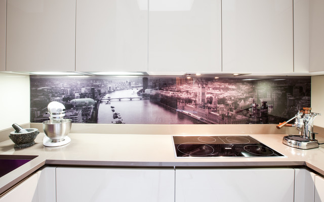Glass Splashback Contemporary Kitchen Contemporary