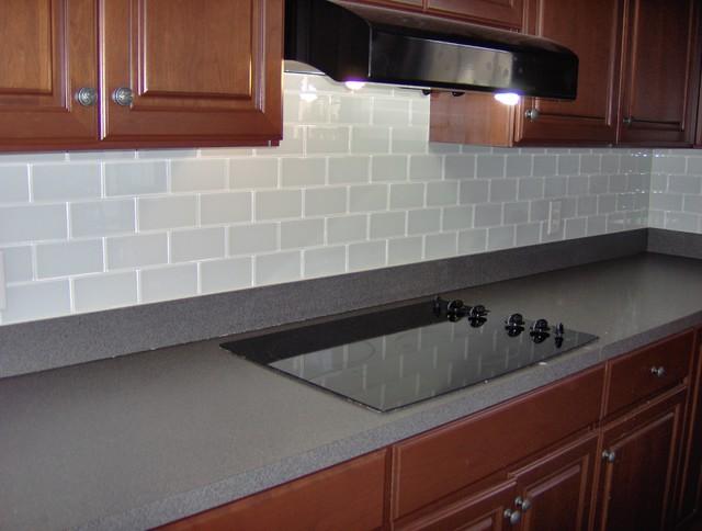 alfa img showing glass subway tile backsplash