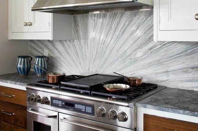 Glass Tile Backsplash - Contemporary - Kitchen - DC Metro ...