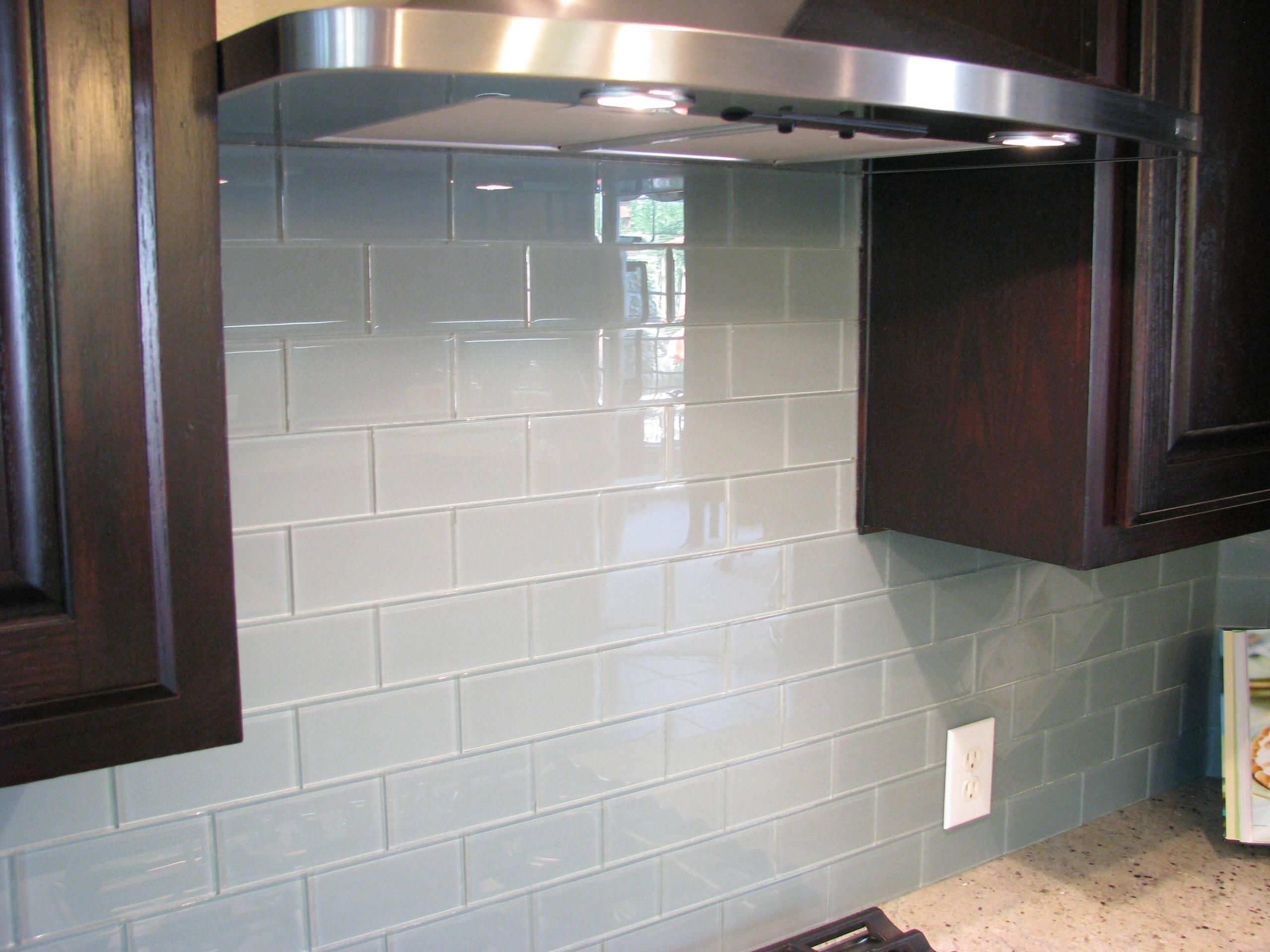 Grey Glass Tile Backsplash Houzz