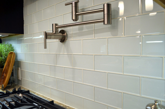 Gl Tile Backsplashes By Subwaytileoutlet Modern Kitchen