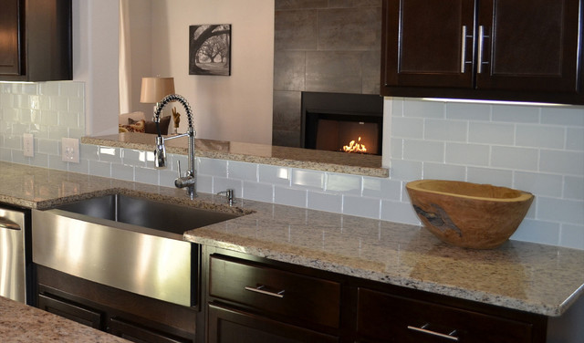 Glass Tile Backsplashes by SubwayTileOutlet Modern Kitchen
