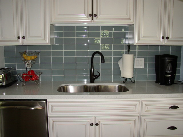 Glass Tile Backsplashes by SubwayTileOutlet - Modern - Kitchen ...