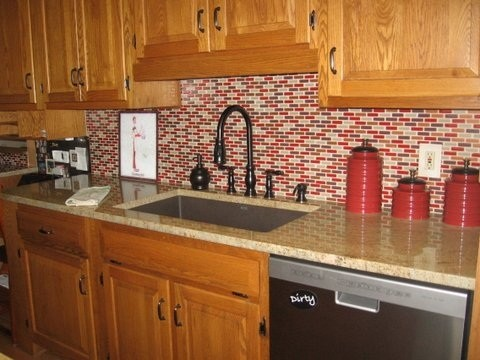 glass tile backsplashes traditional kitchen other metro by my