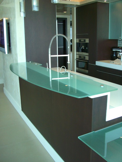 glass tops modern kitchen miami by artistry in glass