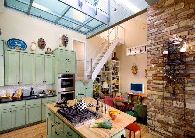 Glass Tower Remodel contemporary-kitchen