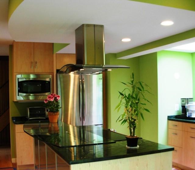 glasss countertop contemporary-kitchen