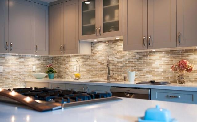 glasstile backsplashes contemporary kitchen orange county by