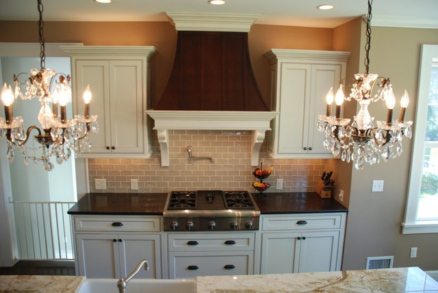 Glazed & stained kitchen cabinetry traditional-kitchen
