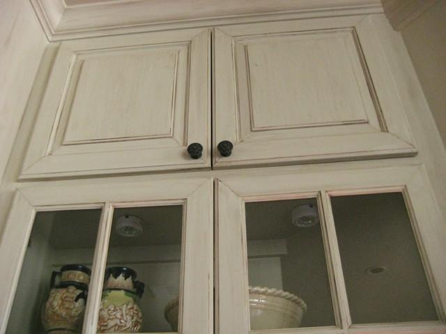 Glazed Cabinets mediterranean-kitchen