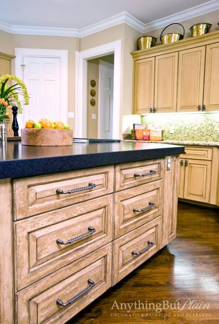 Glazed Kitchen Island Kitchen Houston By Anything