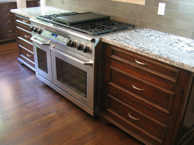 glazed maple cabinets traditional kitchen