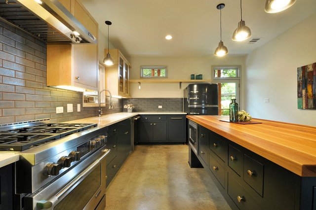 Glazed Thin Brick puts in industrial spin on a residential  : contemporary kitchen from www.houzz.com size 640 x 426 jpeg 91kB