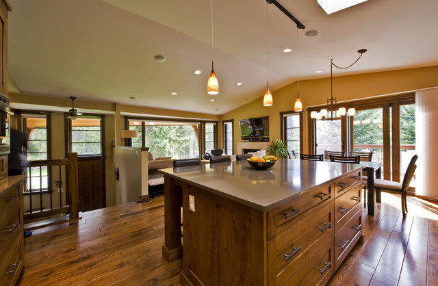 Glen crescent renovation contemporary kitchen for Split level remodel ideas