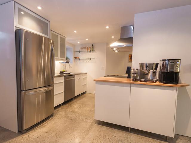 glenmore legal basement suite contemporary kitchen