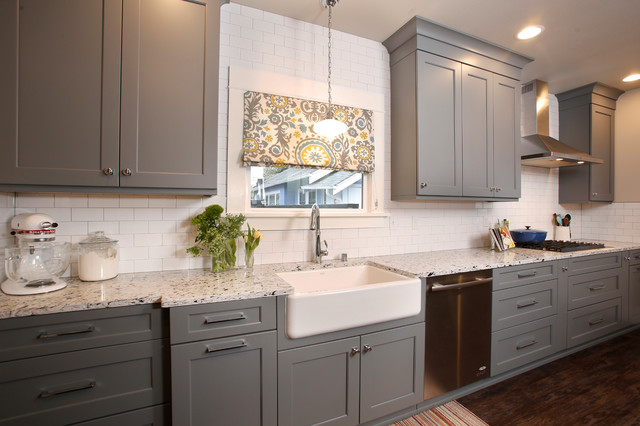 Glorious Gray Craftsman Kitchen Seattle By Reier Construction