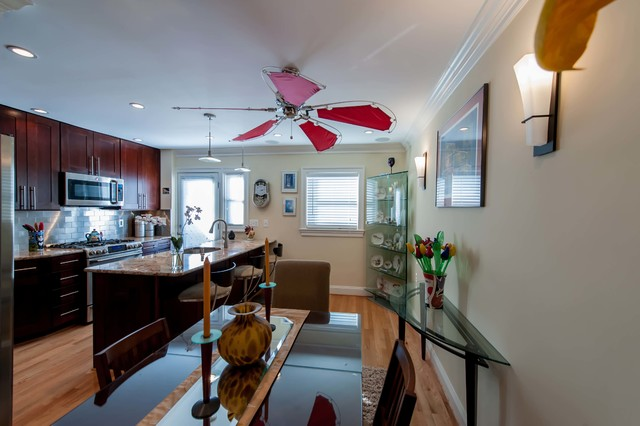 Glorious Townhouse Restoration in North Old Town Alexandria eclectic-kitchen