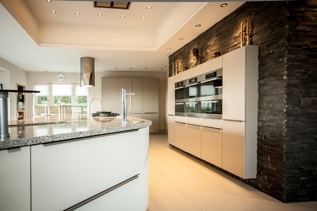Gloss Ivory & Magic Grey Kitchen contemporary kitchen