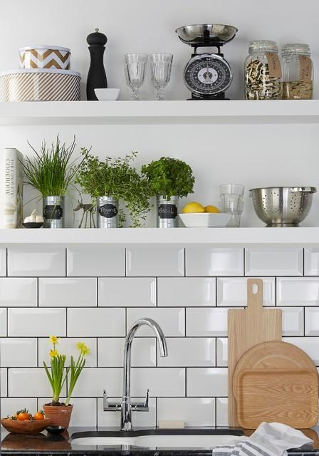 Gloss White Kitchen contemporary-kitchen