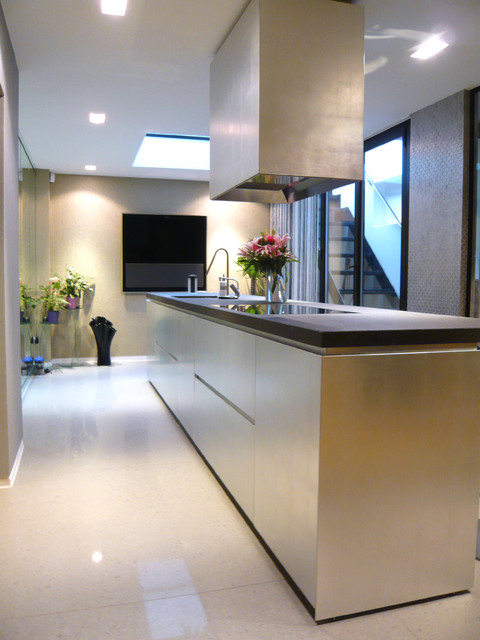 Gold and Silver Leaf Kitchen