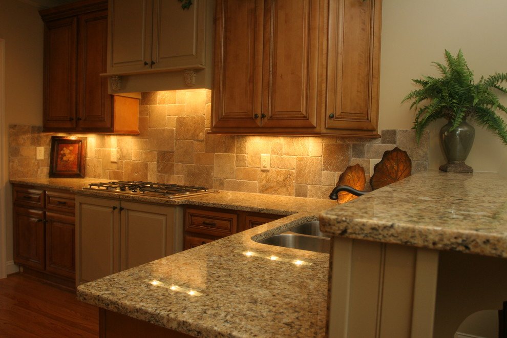Gold Brazil Granite Countertop - Traditional - Kitchen - Raleigh - by CRS  Marble & Granite