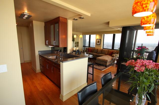 Gold coast high rise condo kitchen gut renovation and - Top interior design firms chicago ...