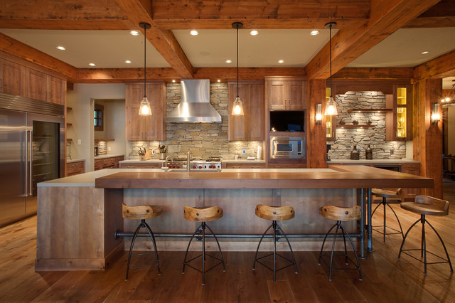Private Kelowna Residence Rustic Kitchen Other Metro