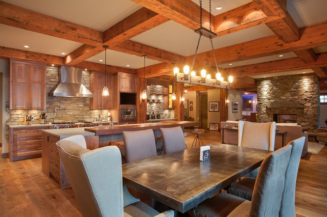 Private kelowna residence rustic dining room other for Dining room tables kelowna