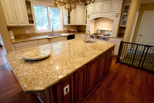 Golden Beach Granite Kitchen Kitchen Dc Metro By