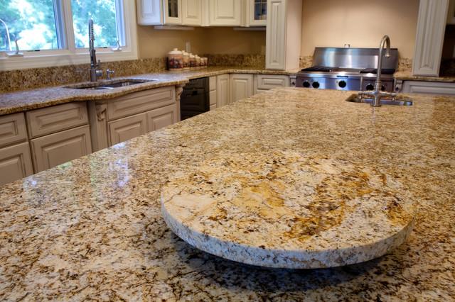 Greatest Golden Beach Granite Kitchen- Granite Lazy Susan - Traditional  SD45