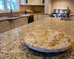 Golden Beach Granite Kitchen- Granite Lazy Susan traditional-kitchen