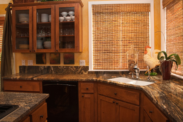Golden Fantasy Granite Traditional Kitchen Portland