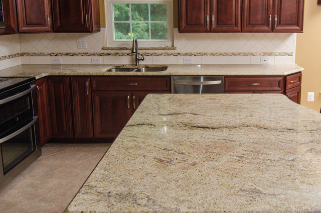 Golden Ivory Granite with Cherry Cabinets - Traditional - Kitchen - dc ...