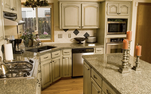 Golden King Granite Countertops Traditional Kitchen
