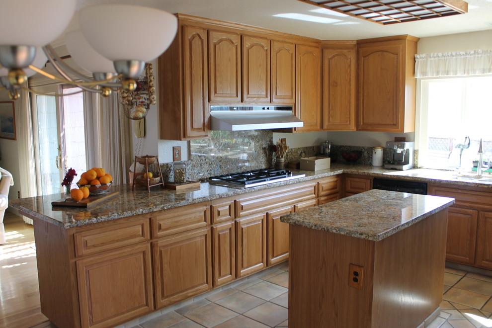 Golden Oak Cabinet Reface - Traditional - Kitchen - San ...