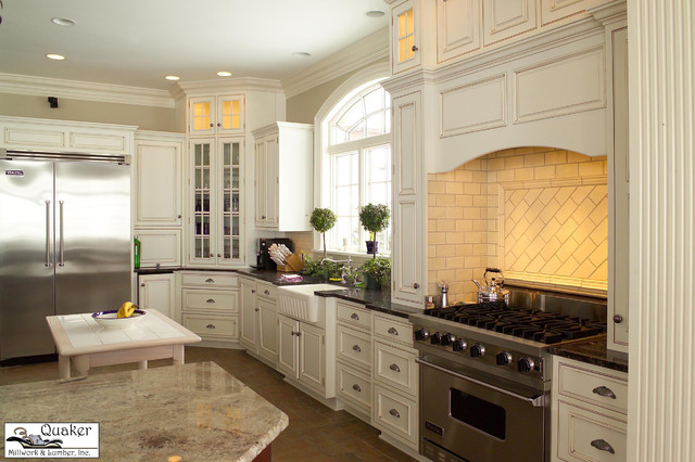 Golden oak traditional kitchen other metro by for Quaker kitchen design
