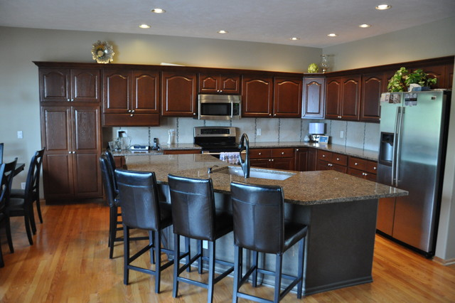 Golden Oak Transformation - Traditional - Kitchen - omaha - by Innovation In Design