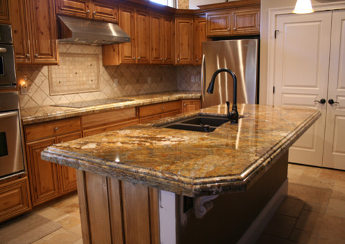 Golden Ray Granite Countertops - Traditional - Kitchen ...